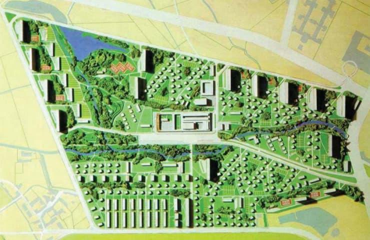 Secondo Progetto QT8 (Arch. Piero Bottoni - Archivio Regione Lombardia)